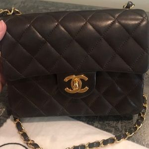CHANEL Bags - Rare!!!! CHANEL quilted mini flap purse